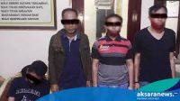 Empat Orang Diduga Pengedar Sabu, Diamankan Dirnarkoba Polda Sulut di Perbatasan Boltim