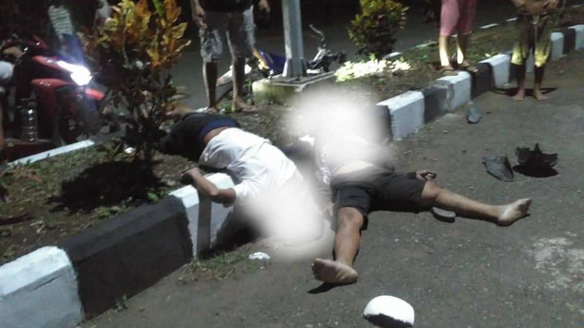 Kecelakaan maut di Togid, dua pengendara tabrak pembatas jalan, 1 tewas di tempat 1 kritis