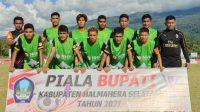Tim sepak bola PON Malut cetak 3 gol ke gawang Askab Halsel