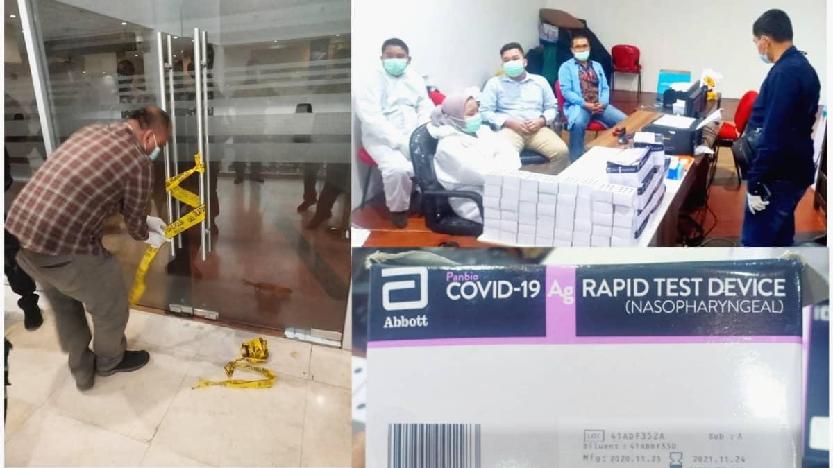 Astaga, Polisi temukan ratusan test rapid antigen bekas di Bandara Kualanamu Sumatera Utara