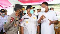 Larangan mudik dimulai, Gubernur Olly Dondokambey cek perbatasan SulutGo